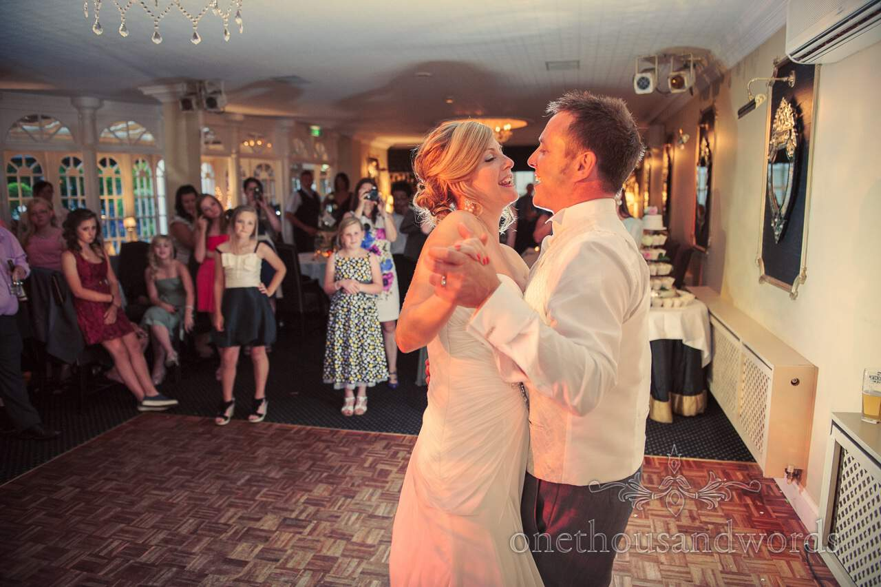 First dance at Lord Bute wedding venue in Dorset