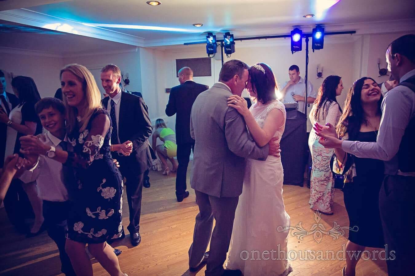 First dance at Salterns Hotel Wedding photographs