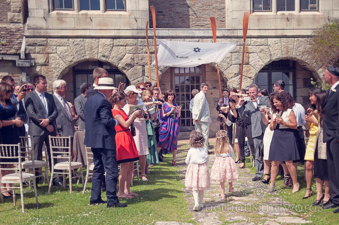 Flowergirls at Prussia Cove Wedding Ceremony