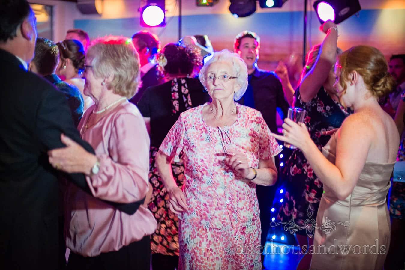 Grandma dancing at Harbour Heights Hotel, Poole wedding venue