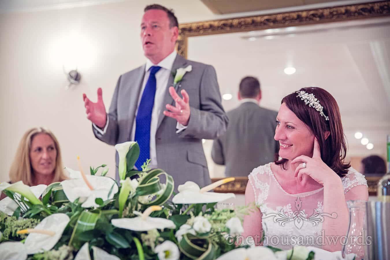 Grooms speech at Salterns Hotel Wedding in Poole, Dorset
