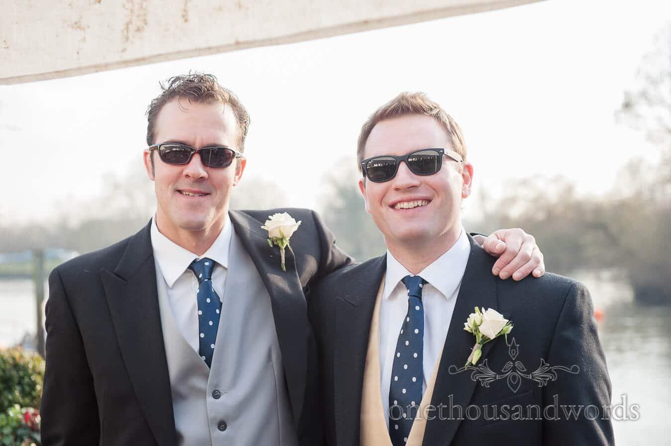 Groomsmen at Hampton Court House Wedding