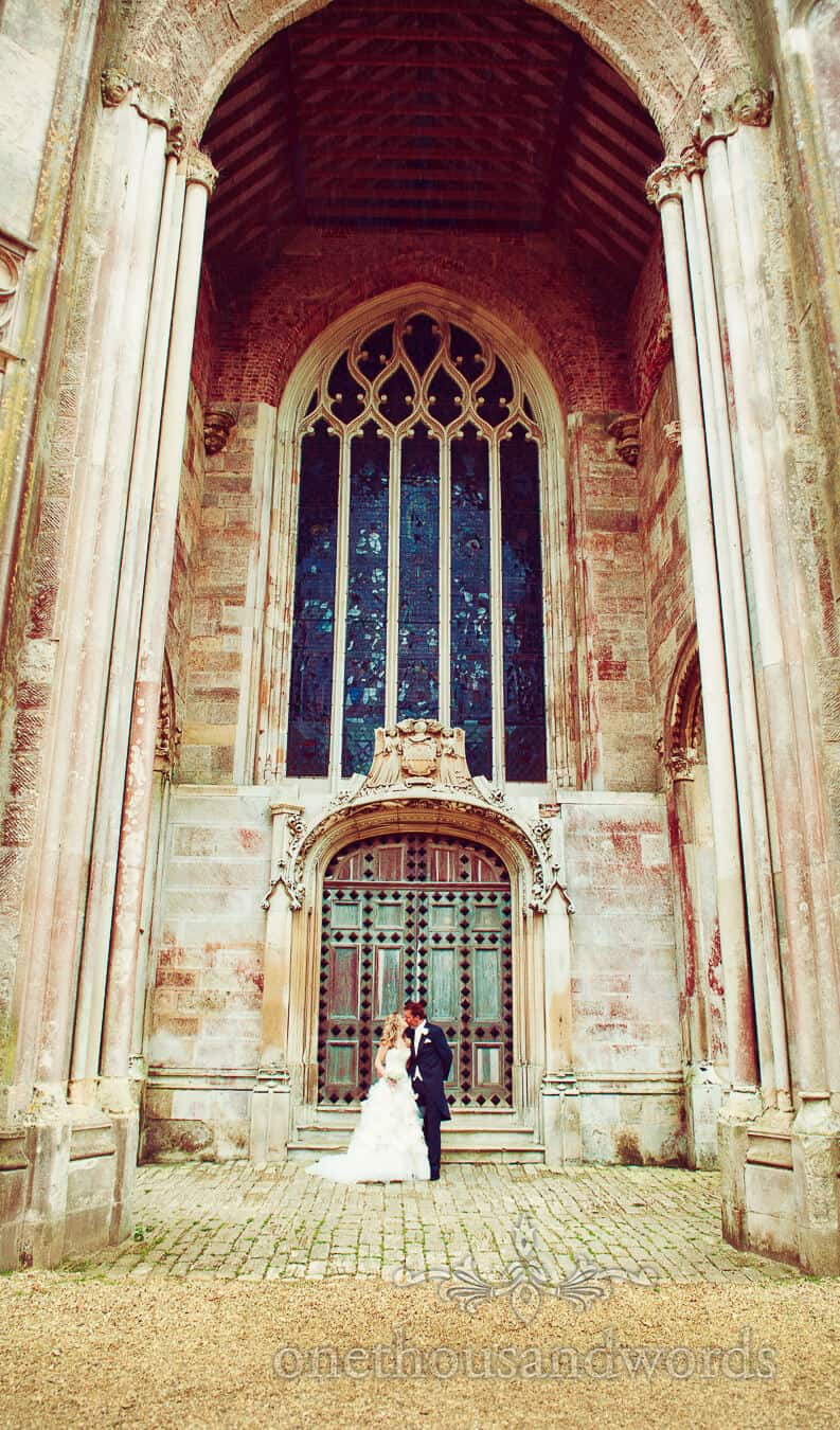 Highcliffe Castle Wedding Photography of bride and groom