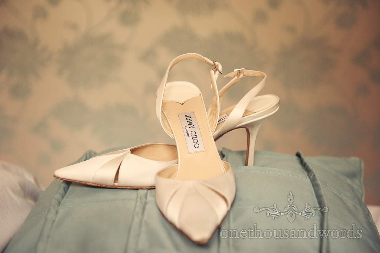 Jimmy Choo wedding shoes at Lord Bute wedding venue