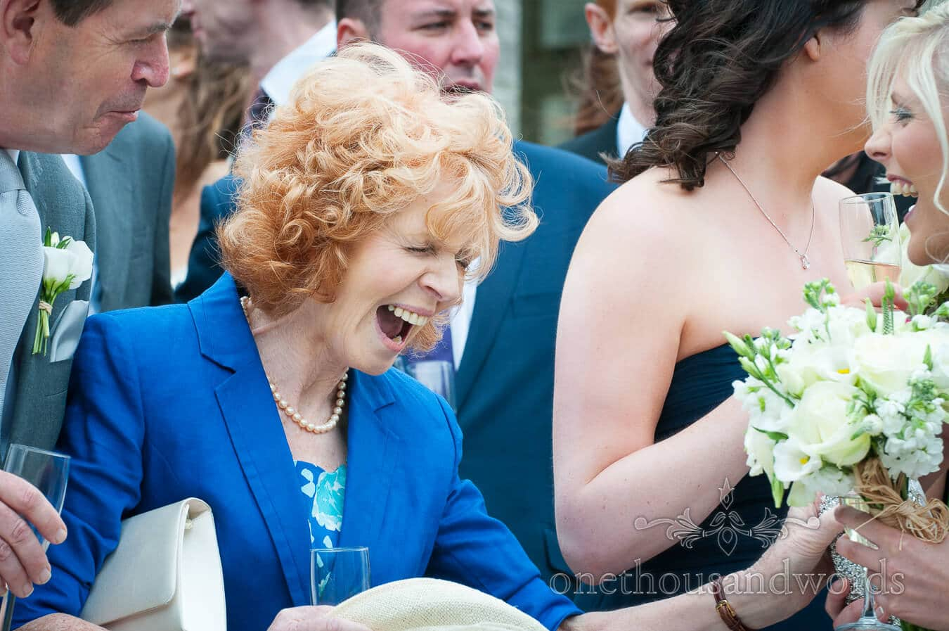Mother of bride at Durlston Castle Wedding Photography