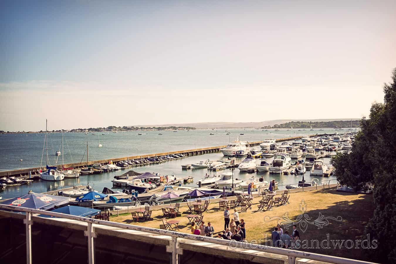 Poole harbour view from Salterns Hotel Wedding