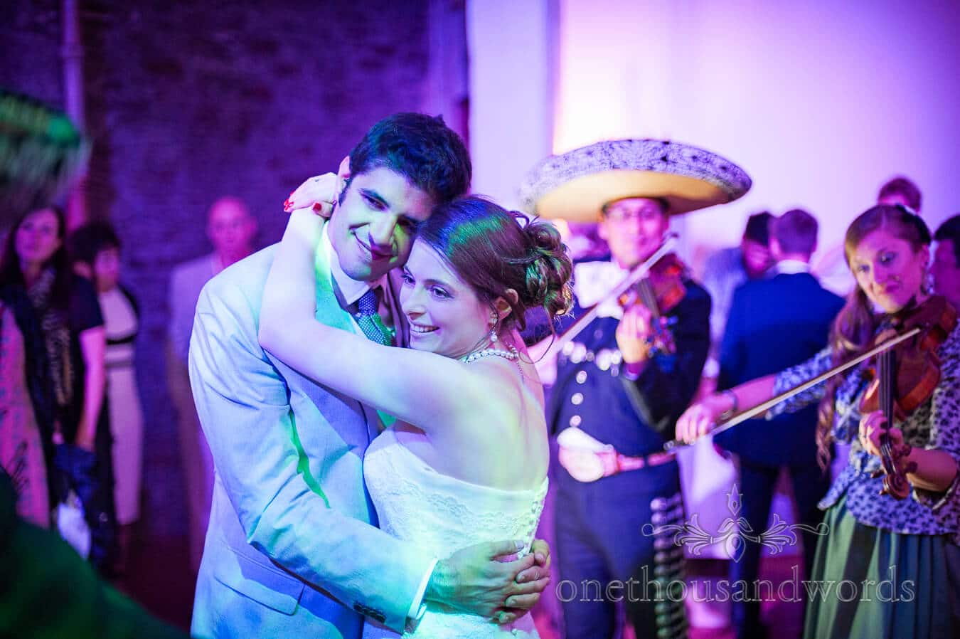 Prussia Cove Wedding Photographs of First dance