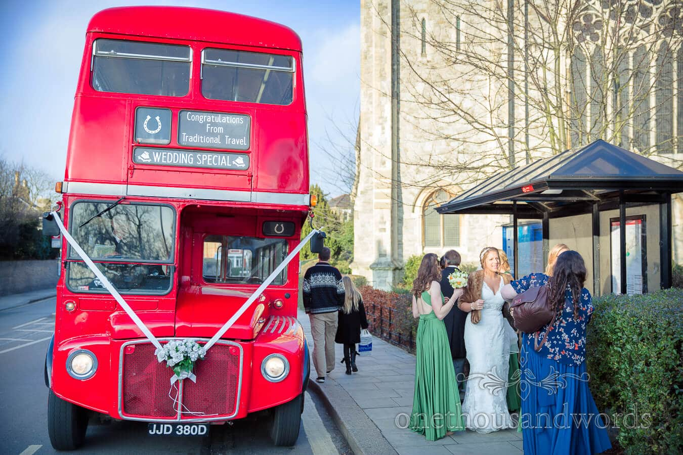 Red London Bus Wedding Transport in Richmond
