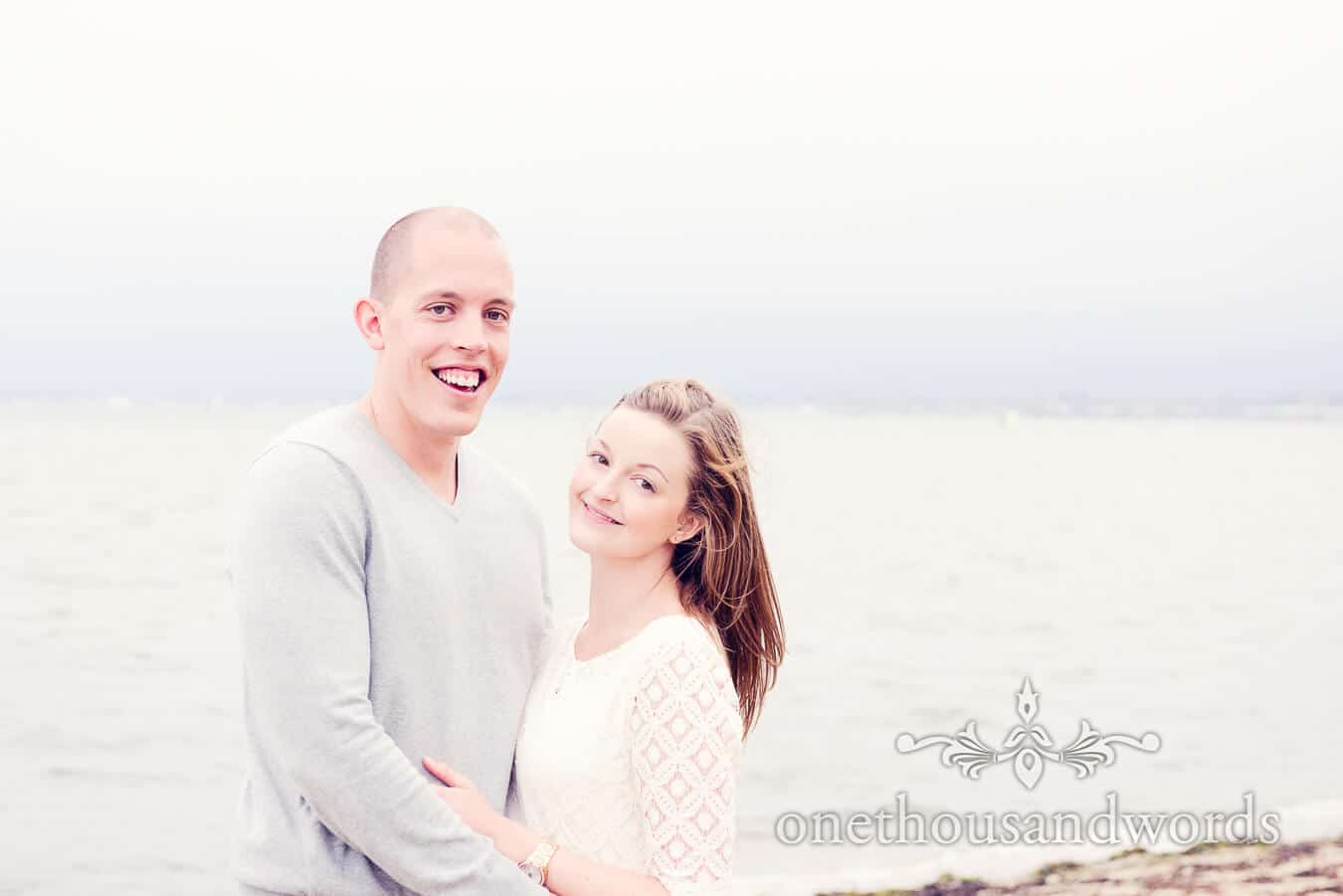 Sandbanks Hotel Engagement Photograph of happy couple
