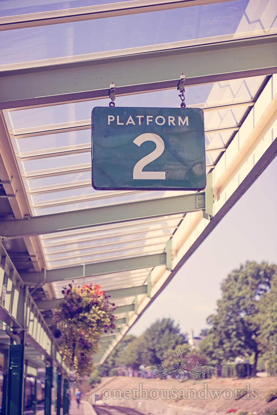 Retro Steam Train Station Platform Sign Platform 2
