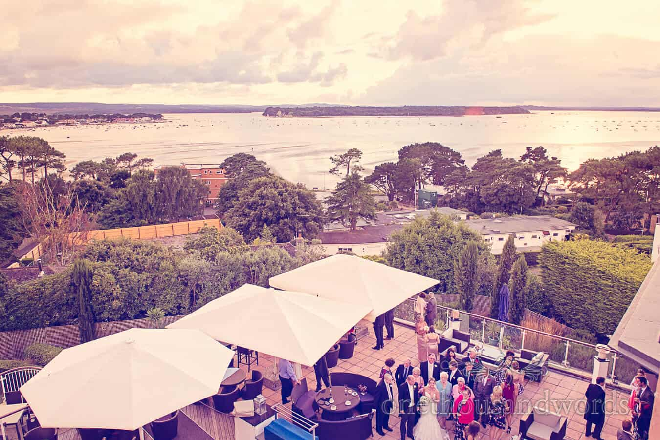 View across Poole Harbour from Harbour Heights Poole wedding venue