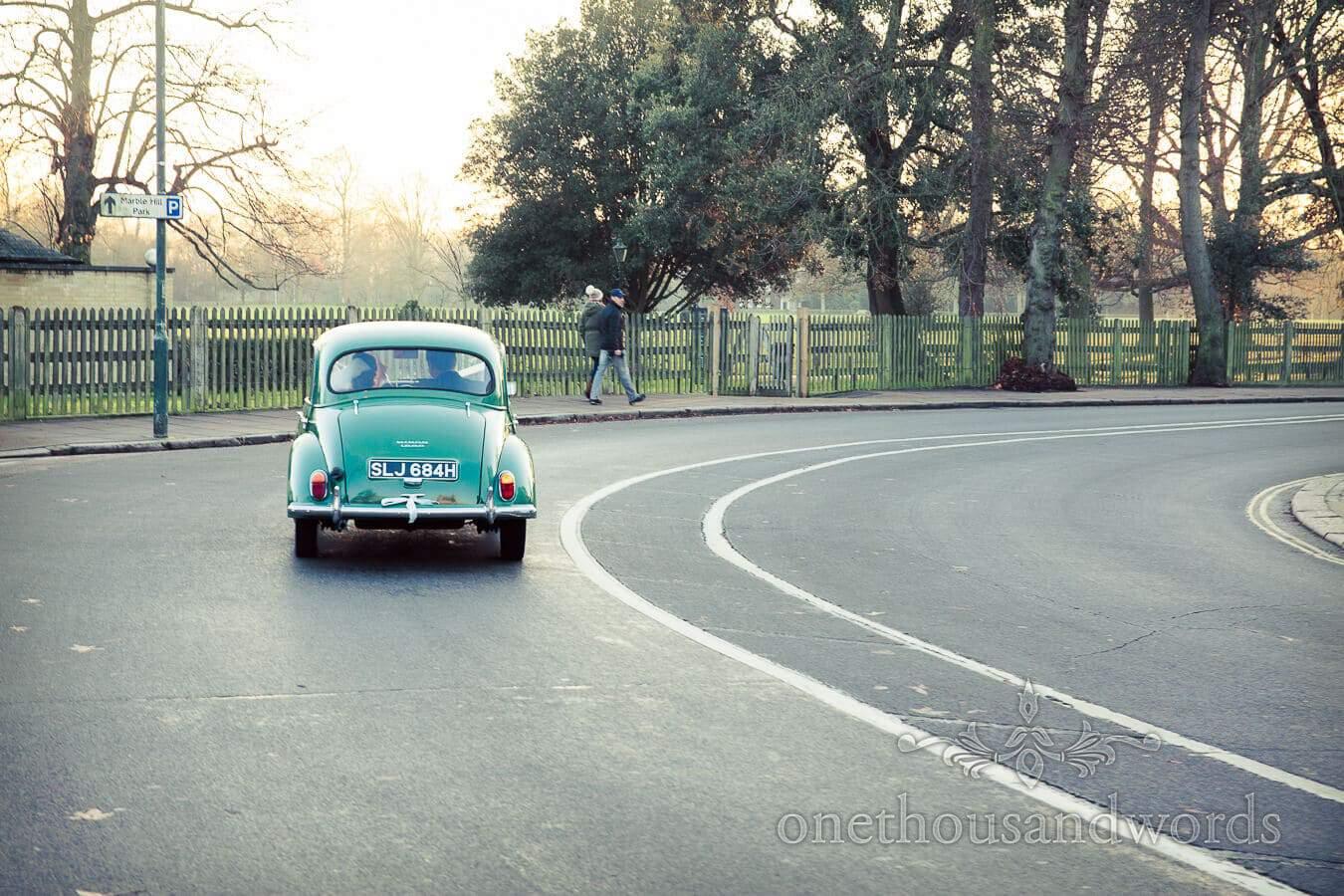 Vintage Morris Minor Wedding Car in Richmond, London