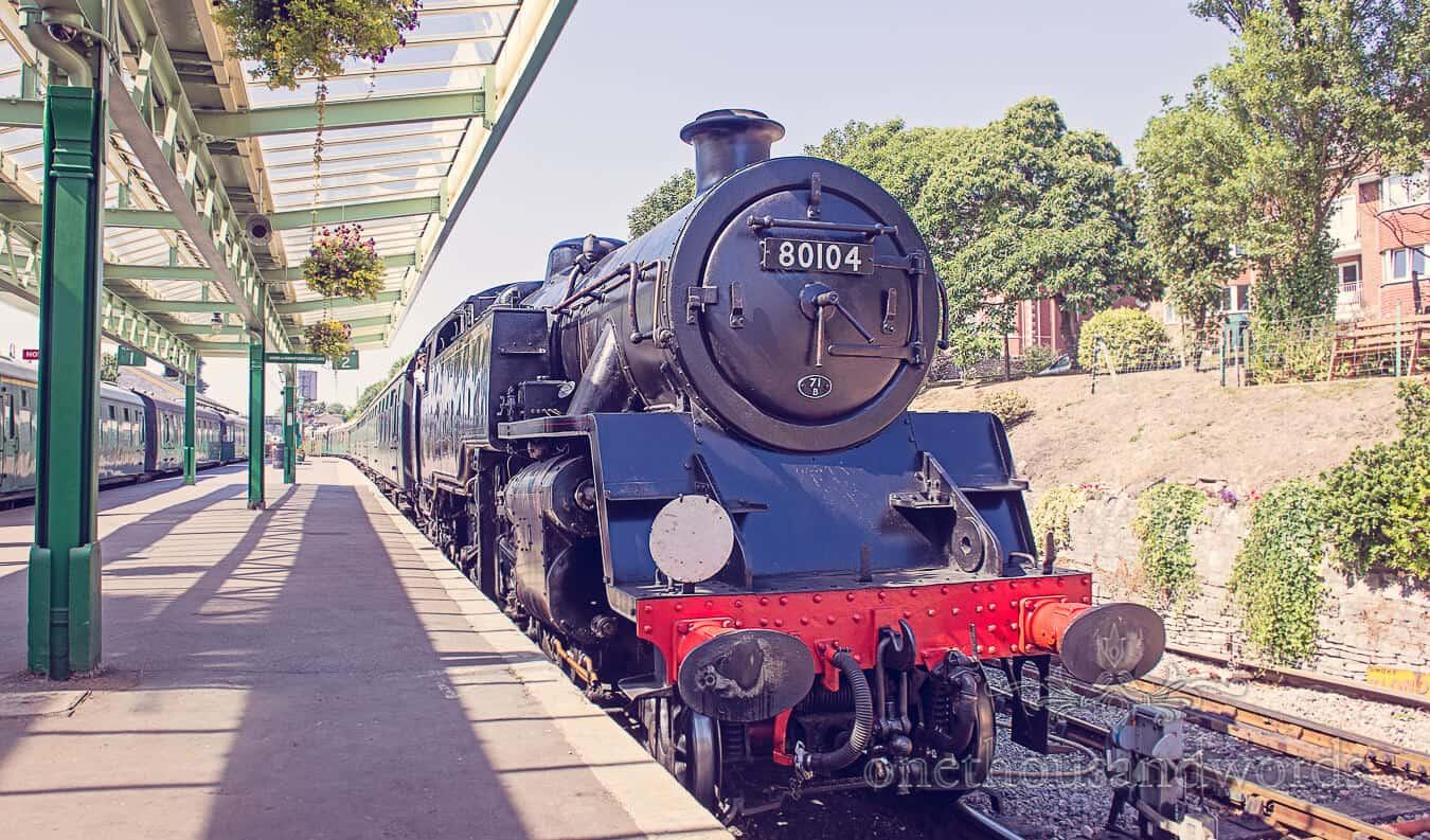 Steam Train at Swanage Steam Railway in Dorset