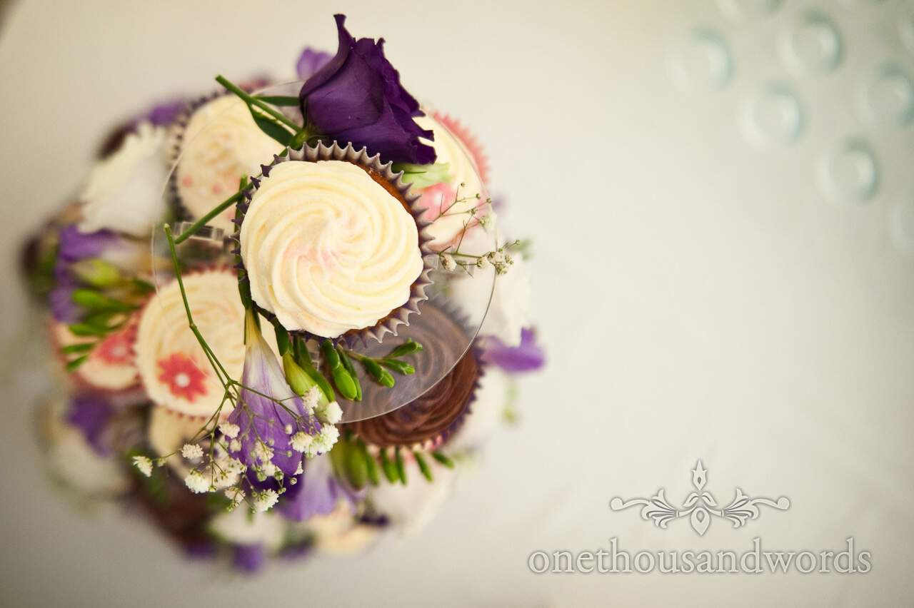 Wedding cupcakes from above