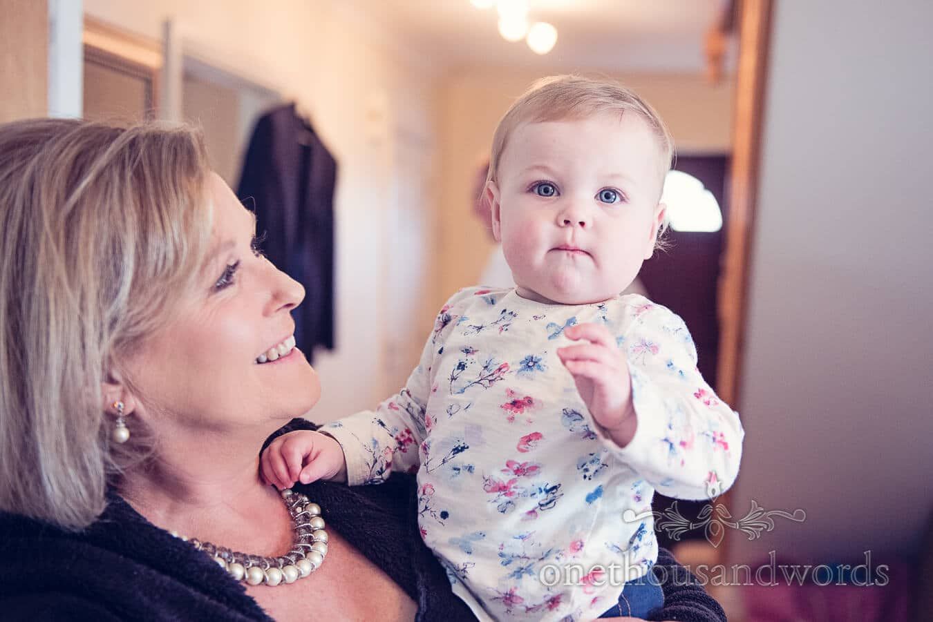 Baby on morning of Purbeck Golf Club Wedding