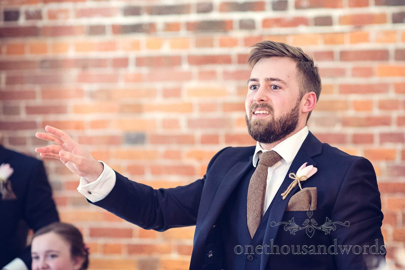 Best man speech from wedding at Sopley Mill