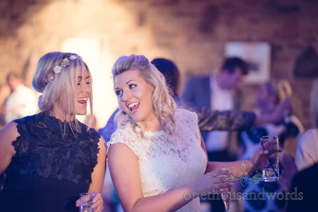 Bride and guest dance Purbeck Golf Club Wedding