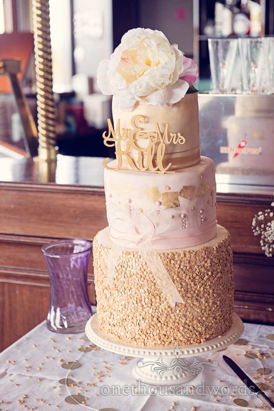 Cake at Purbeck Golf Club Wedding