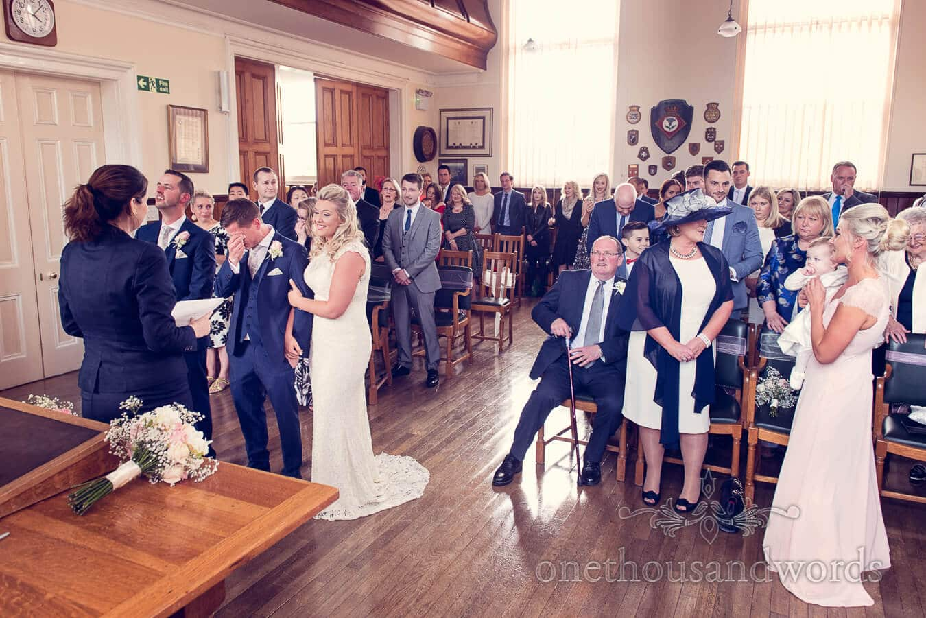 Civil ceremony from Purbeck Golf Club Wedding