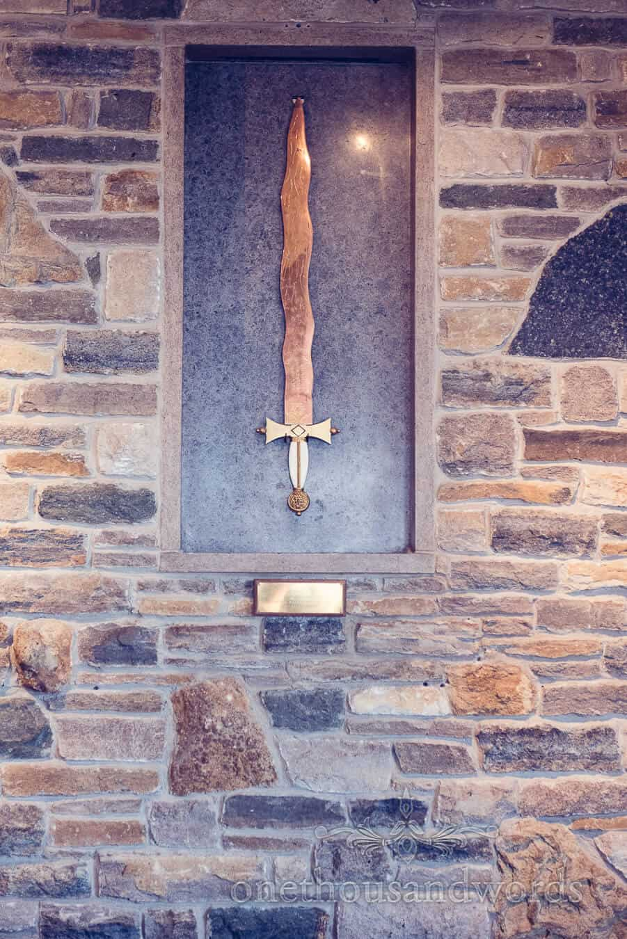 Display sword at the Purbeck Golf Club Wedding