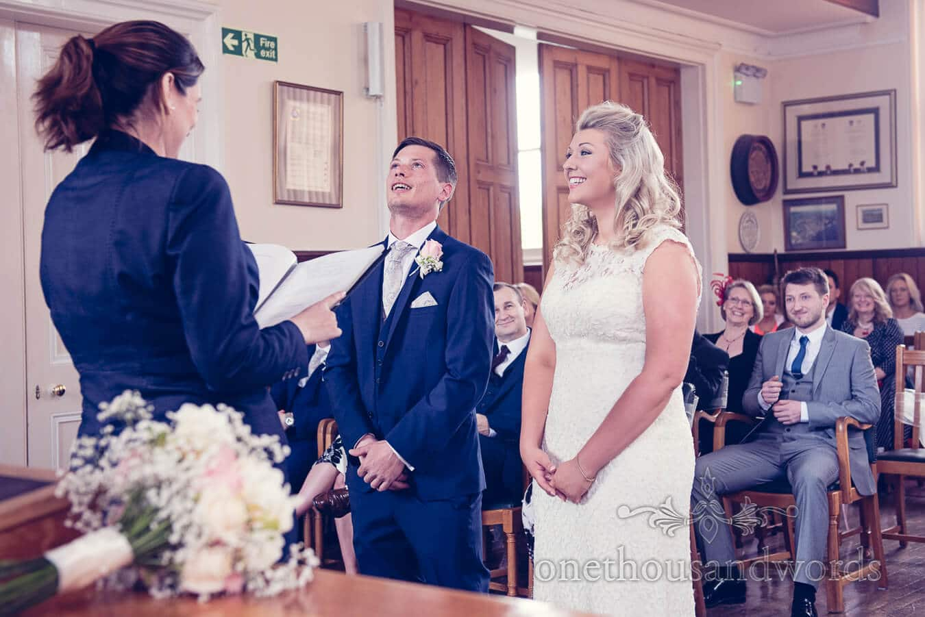 During civil ceremony from Purbeck Golf Club Wedding