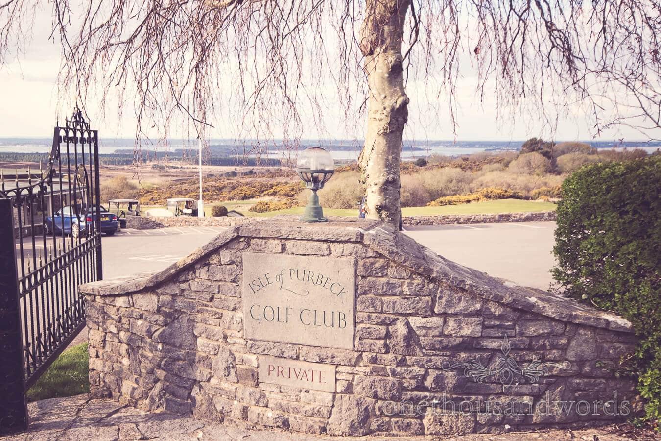 Entrance at Purbeck Golf Club Wedding