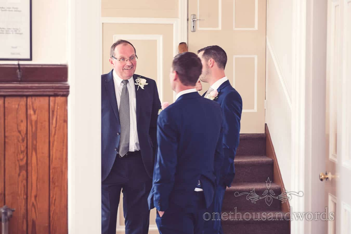 Father of bride, groom and best man from Purbeck Golf Club Wedding