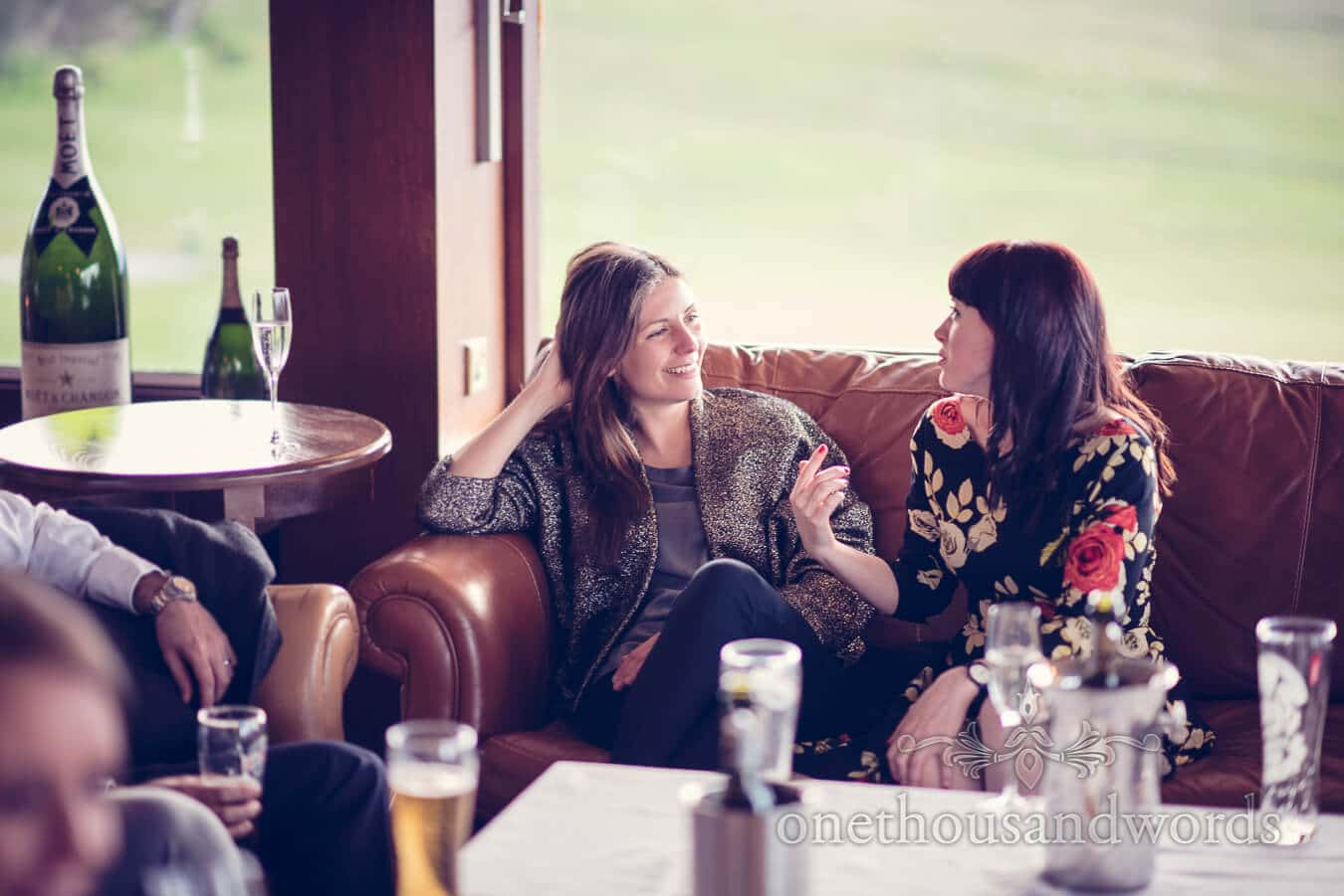Guests relaxing at Purbeck Golf Club Wedding