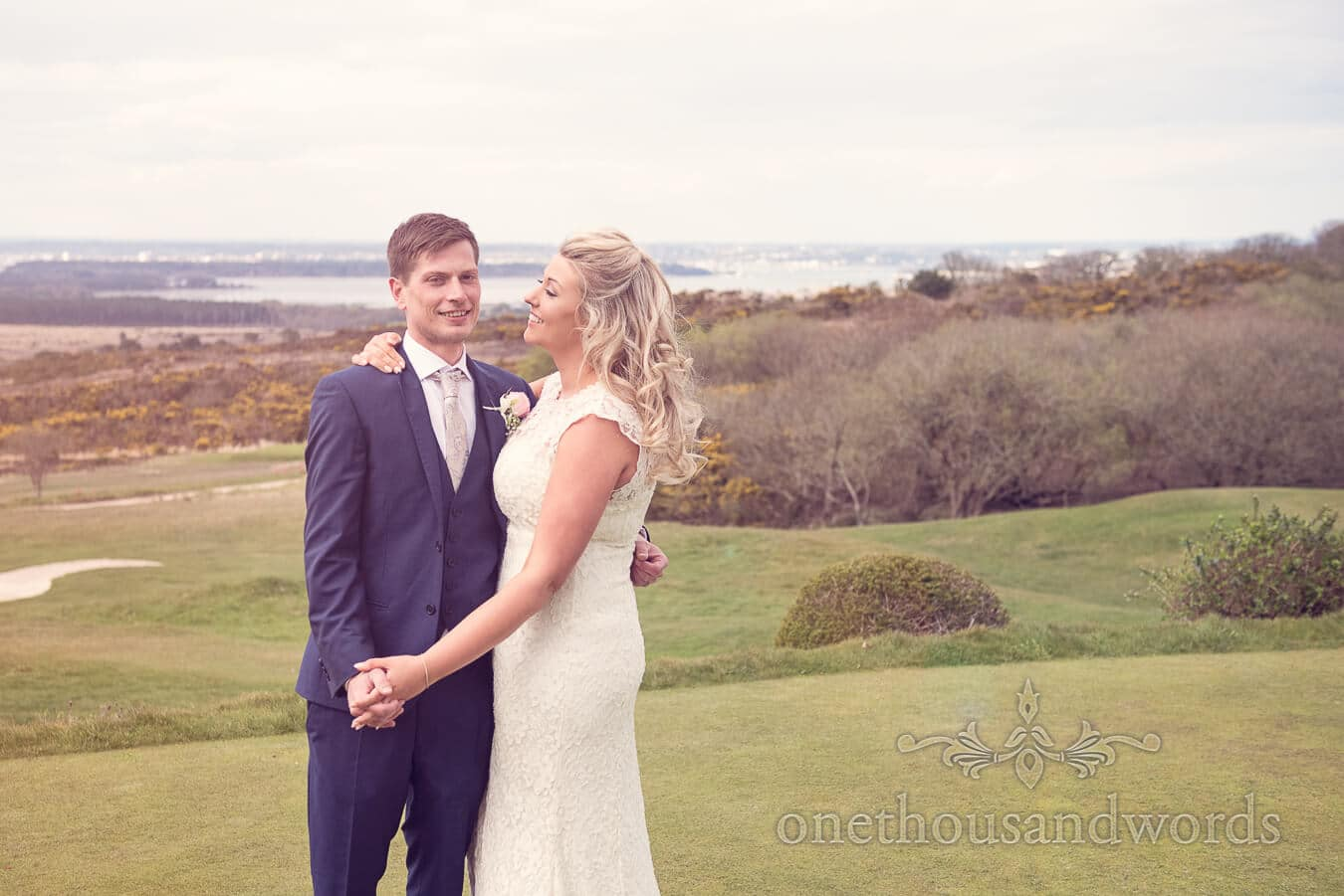 Happy couple at Purbeck Golf Club Wedding