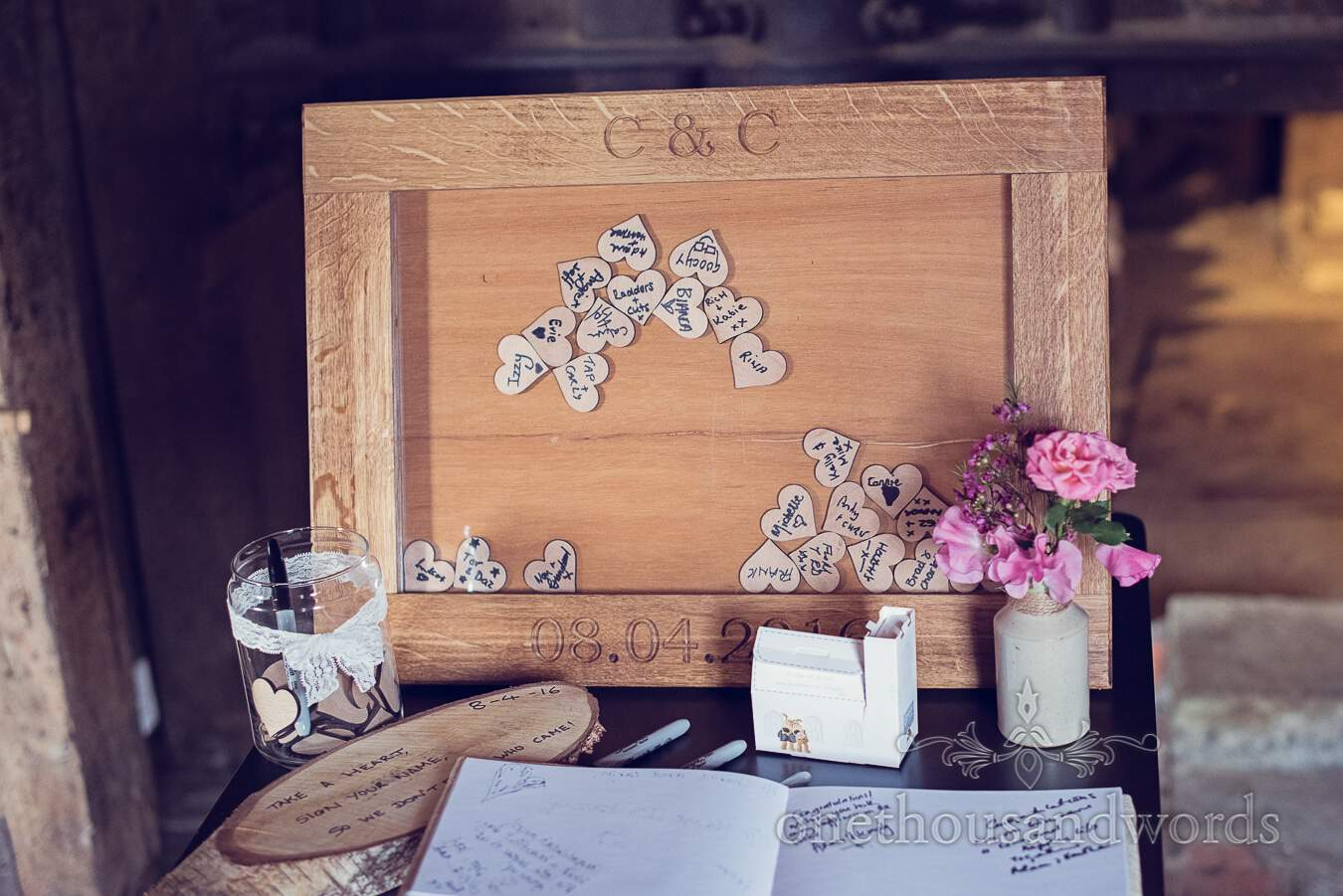 Guest from wedding at Sopley Mill Photography by one thousand words wedding photographers