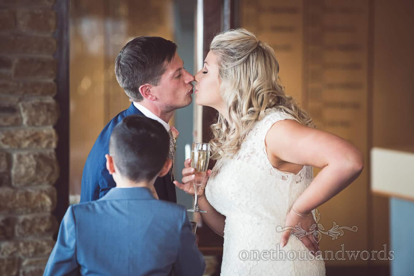 Kiss at Purbeck Golf Club Wedding