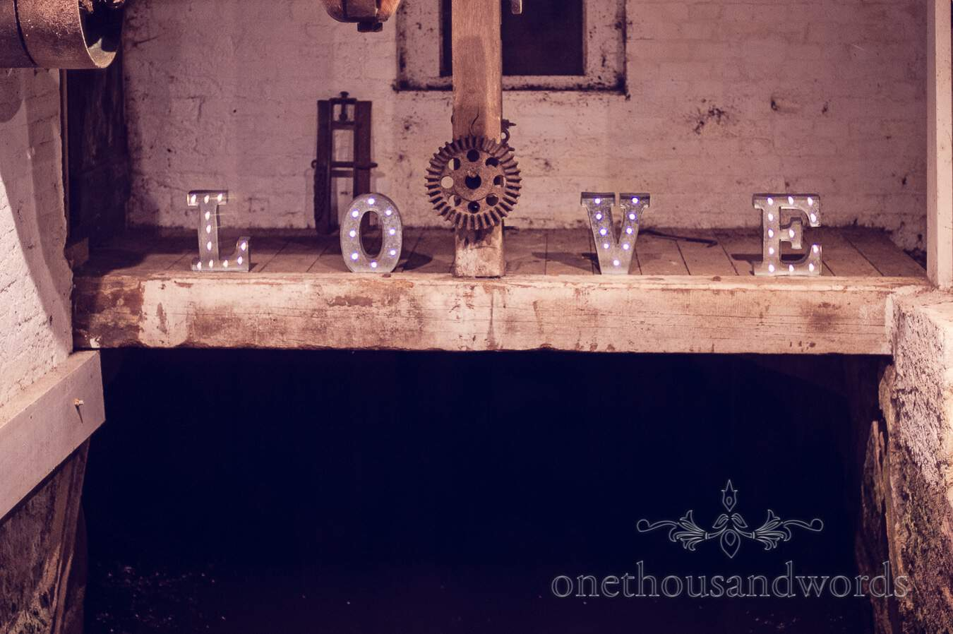 Love letters from wedding at Sopley Mill