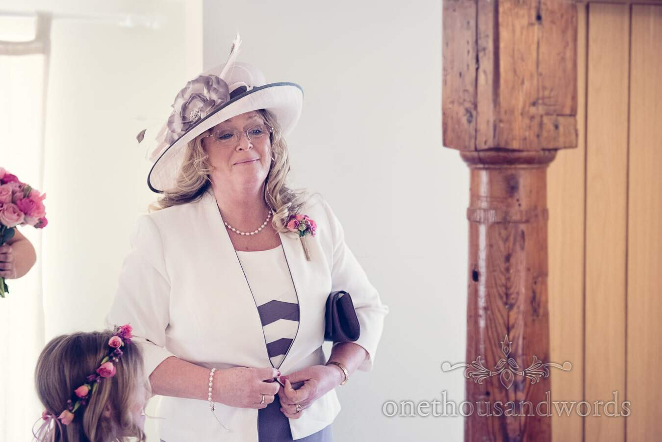 Mother of the bride from wedding at Sopley Mill