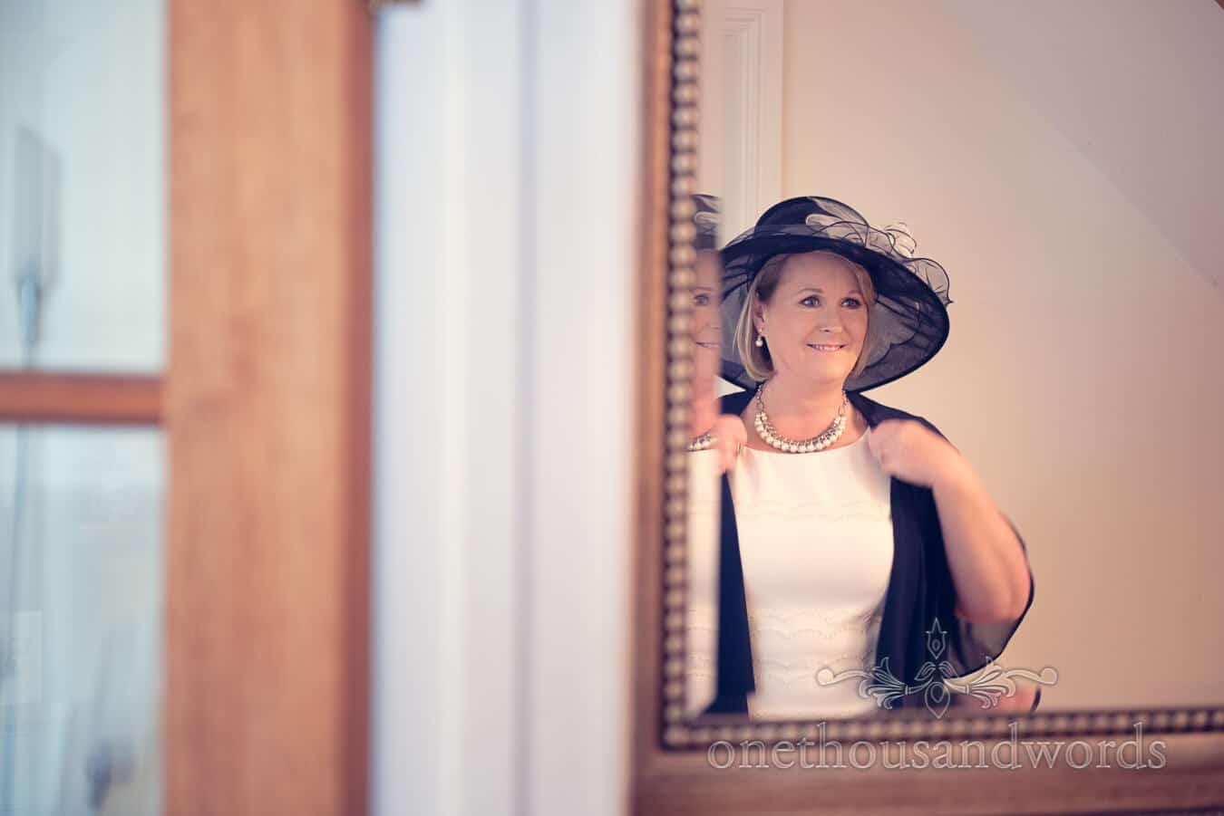 Mother of the bride on morning of Purbeck Golf Club Wedding