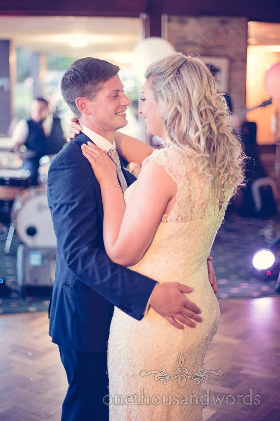 Newlyweds dance at Purbeck Golf Club Wedding