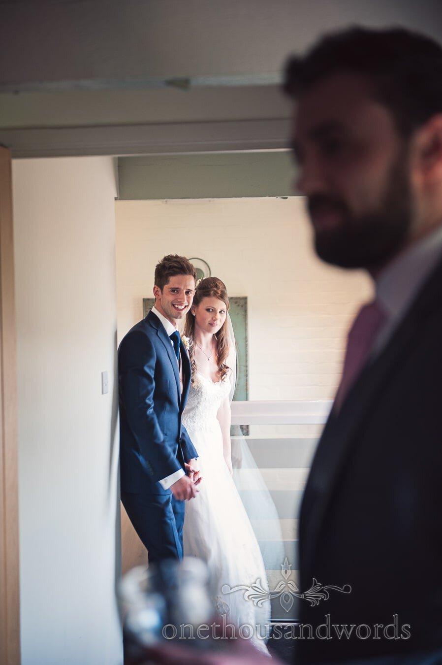 Newlyweds enter the wedding reception