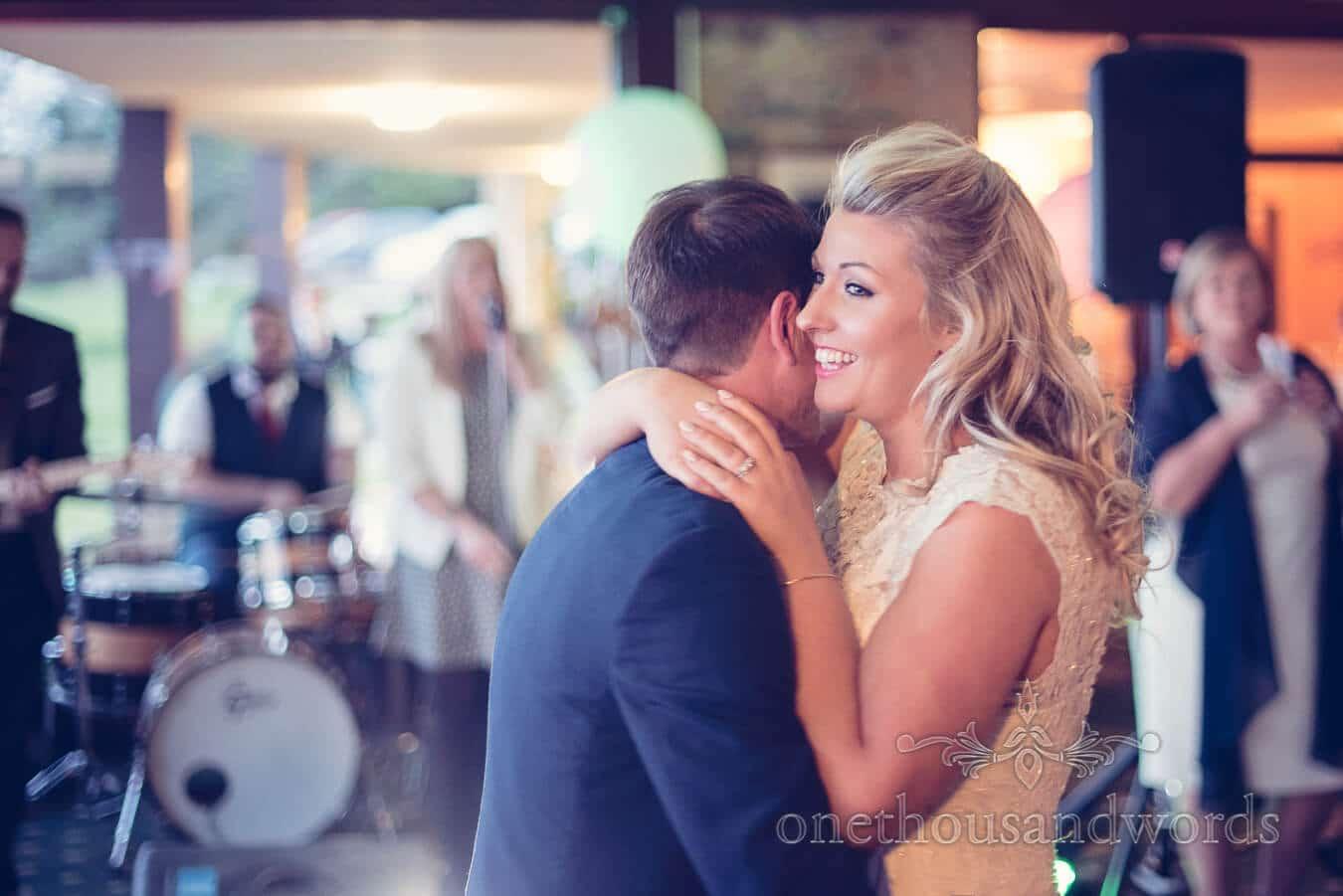 Newlyweds First dance at Purbeck Golf Club Wedding