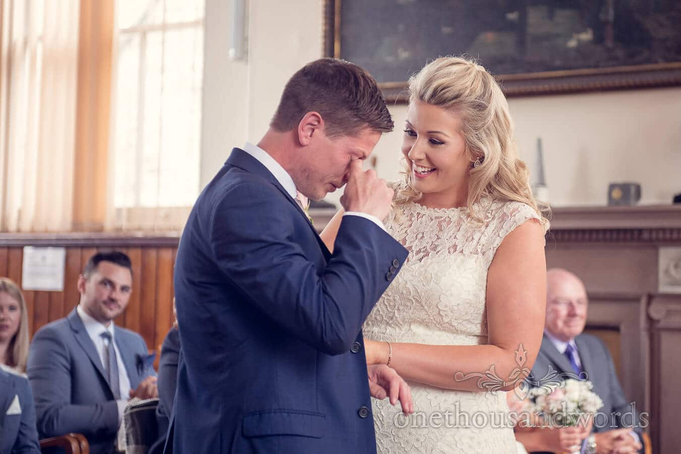 Tears from Purbeck Golf Club Wedding