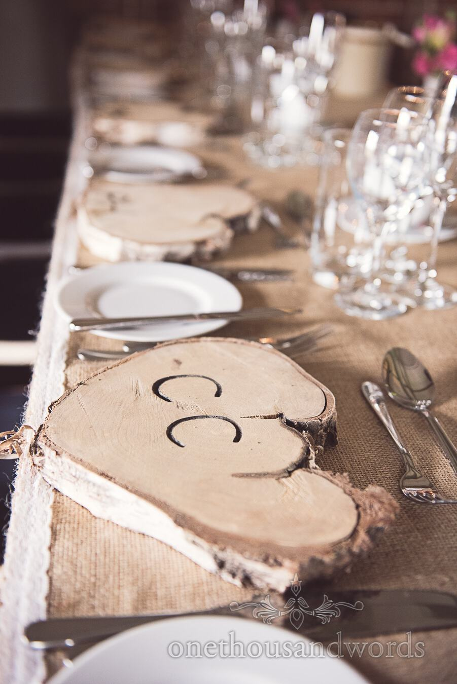 Top table details from wedding at Sopley Mill