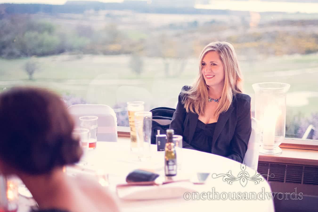 Wedding guest at Purbeck Golf Club Wedding
