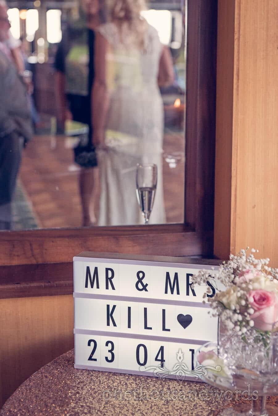 Wedding signage at Purbeck Golf Club Wedding