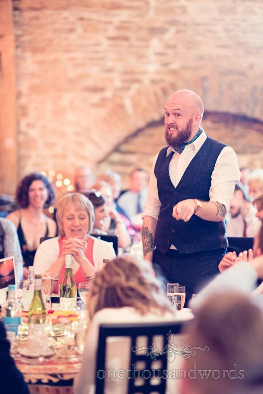 Best man speech at Barn Wedding