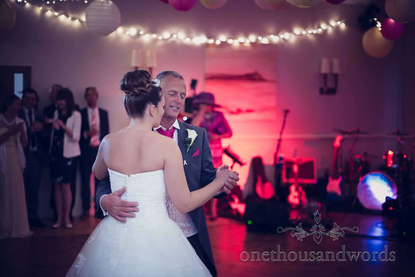Bride and father dance at Haven hotel wedding