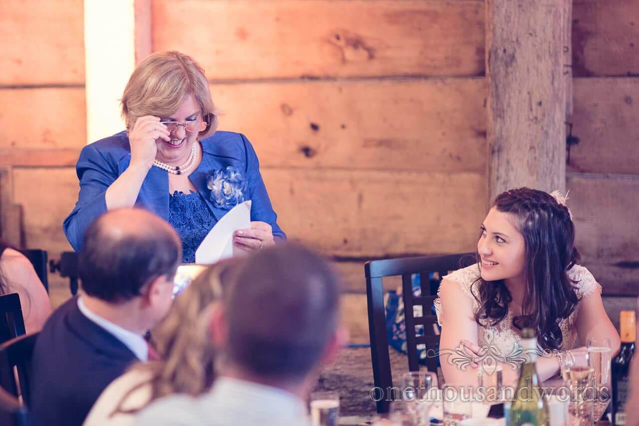 Brides mother speech at Barn Wedding