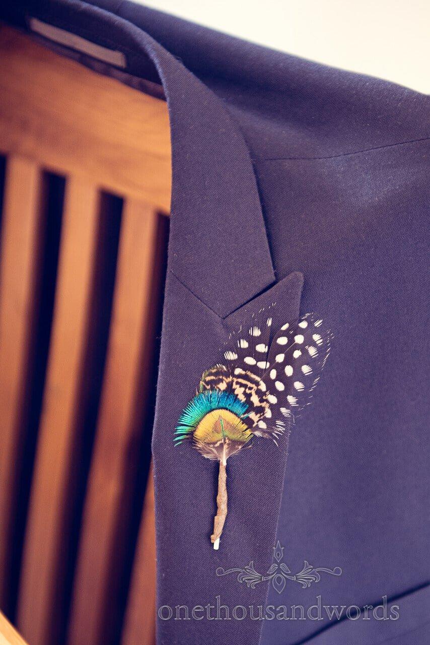 Buttonhole detail at Barn Wedding