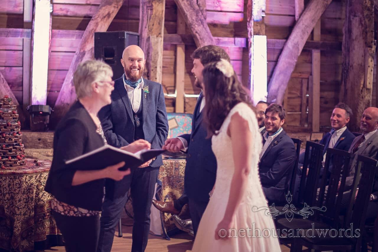 Ceremony at Barn Wedding