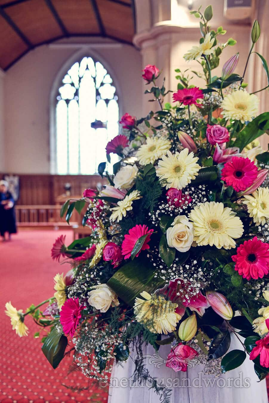 Church flowers from Haven hotel wedding