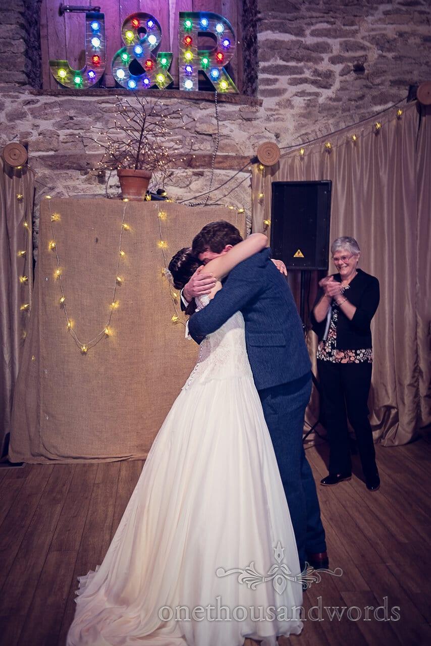 Embrace at Barn Wedding