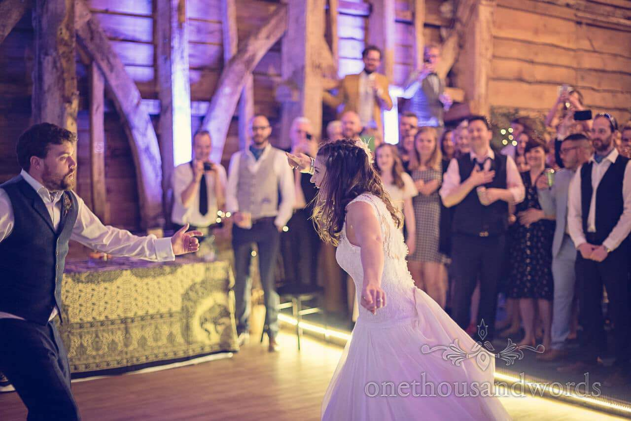 First dance at Barn Wedding Photography by one thousand words wedding photographers