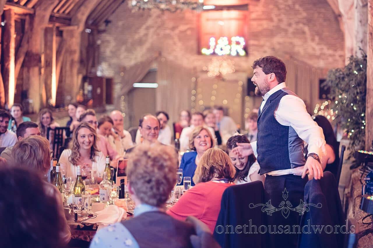 Grooms speech at Barn Wedding